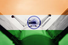 Weapons of mass destruction. India ICBM missile. War Background. Royalty Free Stock Photography