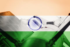 Weapons of mass destruction. India ICBM missile. War Background. Royalty Free Stock Image