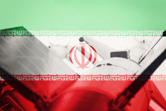 Weapons of mass destruction. Iran ICBM missile. War Background. Royalty Free Stock Photography