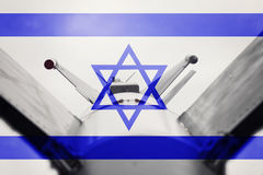 Weapons of mass destruction. Israel ICBM missile. War Background Stock Photos