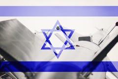 Weapons of mass destruction. Israel ICBM missile. War Background Royalty Free Stock Image