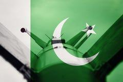 Weapons of mass destruction. Pakistan ICBM missile. War Backgrou Stock Photography
