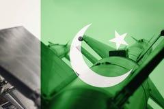 Weapons of mass destruction. Pakistan ICBM missile. War Backgrou Stock Photo