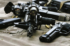 Weapons and military equipment for army, Assault rifle gun M4A1 Royalty Free Stock Photo