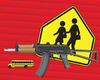 Weapons and school Stock Photos