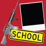 Weapons and school Stock Images
