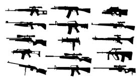 Weapons. Set of rifles. Weapons. Vector set of rifles Royalty Free Stock Photo