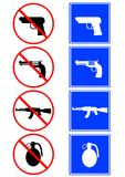 Weapons signs Stock Photo