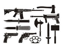 Weapons - silhouette Royalty Free Stock Image