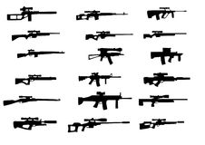 Weapons with sniper scope Stock Photo