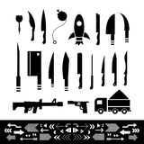 Weapons symbol set Stock Photography