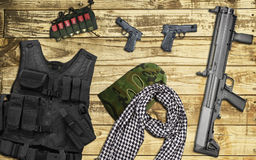 Weapons to terrorists Royalty Free Stock Photos