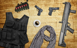 Weapons to terrorists Stock Photography
