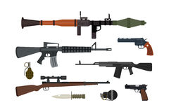 Weapons vector collection. Royalty Free Stock Image