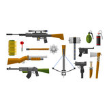 Weapons vector collection icons Royalty Free Stock Images