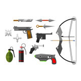 Weapons vector collection icons Stock Images