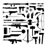Weapons vector collection icons Royalty Free Stock Photos