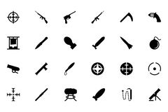 Weapons Vector Icons 2 Royalty Free Stock Photography