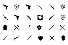 Weapons Vector Icons 4 Royalty Free Stock Image