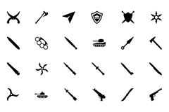 Weapons Vector Icons 5 Stock Photo