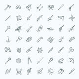Weapons vector icons set, Arms solid symbol. Weapons vector icons set, cold steel arms Stock Photography