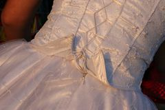 Wear. Wedding dress Stock Photo