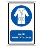 Wear Antistatic Suit Symbol Sign, Vector Illustration, Isolate On White Background Label .EPS10 stock illustration