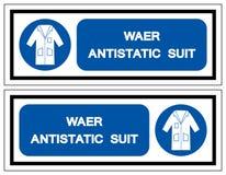 Wear Antistatic Suit Symbol Sign, Vector Illustration, Isolate On White Background Label .EPS10 vector illustration