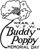 Wear A Buddy Poppy Royalty Free Stock Images