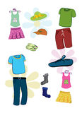 Wear clothes. Funny summer wear for everybody who like relax Royalty Free Stock Images