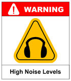 Wear earmuffs or ear plugs Stock Photography