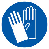 Wear Gloves - Safety Sign Stock Images