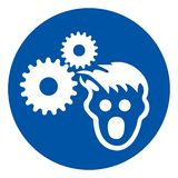 Wear Hairnet Symbol Sign, Vector Illustration, Isolate On White Background Label .EPS10 royalty free illustration