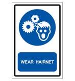 Wear Hairnet Symbol Sign, Vector Illustration, Isolate On White Background Label .EPS10 vector illustration