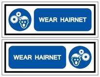 Wear Hairnet Symbol Sign, Vector Illustration, Isolate On White Background Label .EPS10 stock illustration