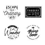 Wear logotypes in vintage style, minimal vintage. Retro badges and labels Royalty Free Stock Image
