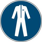 Wear protective clothing sign  - mandatory sign. Wear protective clothing sign - mandatory sign royalty free illustration