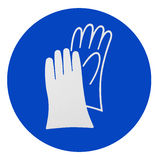 Wear safety gloves. Sign information Royalty Free Stock Image