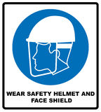Wear safety helmet and face shield Stock Photo