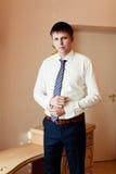 Wear a shirt and cufflinks Stock Photography
