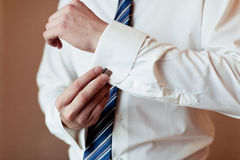 Wear a shirt and cufflinks Stock Images