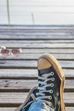 Wear sneakers Stock Photography