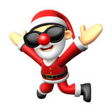 Wear sunglasses 3D Santa character is written to be powerful and Stock Photos