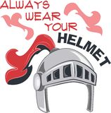 Always Wear Your Helmet Stock Image
