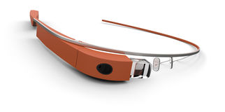 Wearable computer glasses Stock Images