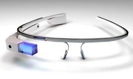 wearable computertechnologie met een optische hoofd-opgezette vertoning Royalty-vrije Stock Afbeelding