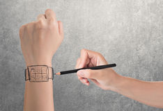 Wearable device concept Stock Photos