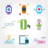 Wearable device flat design icon Royalty Free Stock Images
