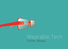 Wearable tech glasses  design. Wearable technology glasses  design Royalty Free Stock Photos