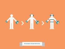 Wearable technologie slimme apparaten Royalty-vrije Illustratie